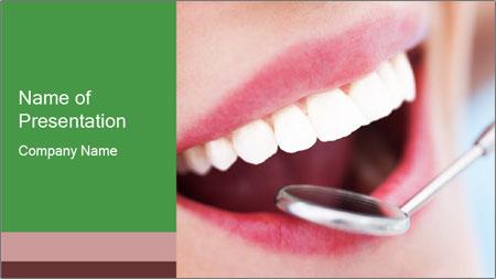 Beautiful teeth PowerPoint Template