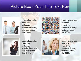 Business woman greeting a visit PowerPoint Template - Slide 14