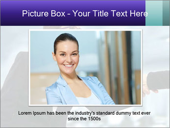 Business woman greeting a visit PowerPoint Template - Slide 15