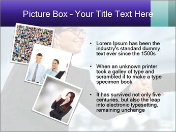 Business woman greeting a visit PowerPoint Template - Slide 17