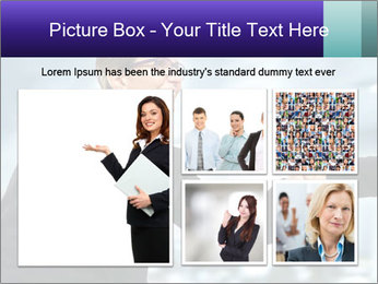 Business woman greeting a visit PowerPoint Template - Slide 19