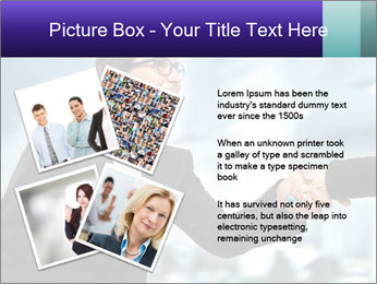 Business woman greeting a visit PowerPoint Template - Slide 23