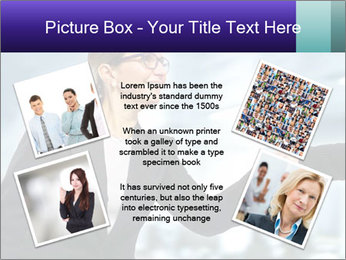 Business woman greeting a visit PowerPoint Template - Slide 24