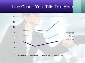 Business woman greeting a visit PowerPoint Template - Slide 54