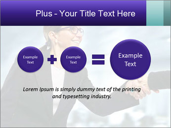 Business woman greeting a visit PowerPoint Template - Slide 75