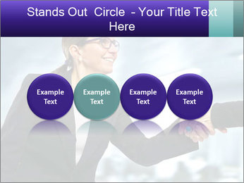 Business woman greeting a visit PowerPoint Template - Slide 76