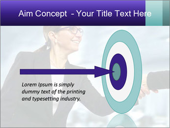Business woman greeting a visit PowerPoint Template - Slide 83