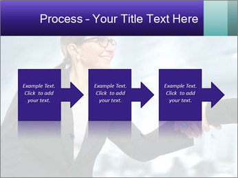 Business woman greeting a visit PowerPoint Template - Slide 88
