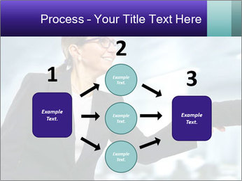 Business woman greeting a visit PowerPoint Template - Slide 92