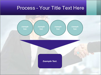 Business woman greeting a visit PowerPoint Template - Slide 93