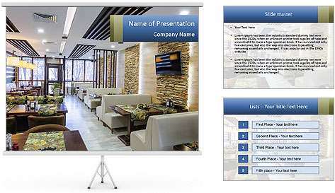 Modern restaurant PowerPoint Template