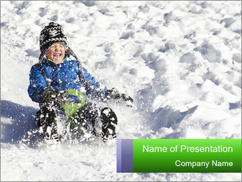 Cute young boy PowerPoint Template
