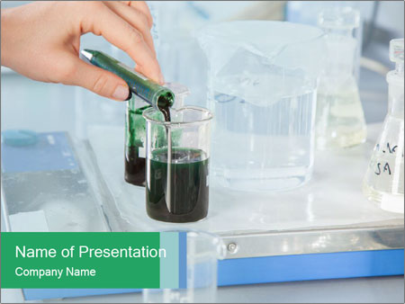 A Professor is decanting PowerPoint Template
