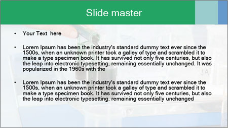 A Professor is decanting PowerPoint Template - Slide 2