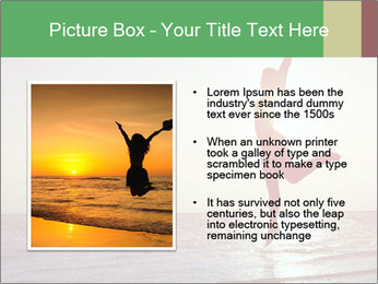 Happy Woman Jumping PowerPoint Template - Slide 13