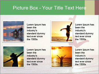 Happy Woman Jumping PowerPoint Template - Slide 14