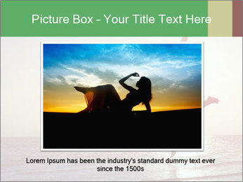 Happy Woman Jumping PowerPoint Template - Slide 15
