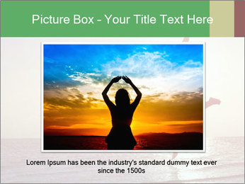 Happy Woman Jumping PowerPoint Template - Slide 16