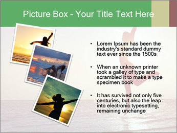 Happy Woman Jumping PowerPoint Template - Slide 17