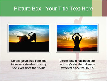 Happy Woman Jumping PowerPoint Template - Slide 18