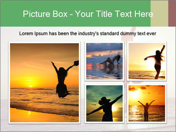 Happy Woman Jumping PowerPoint Template - Slide 19