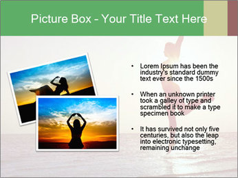 Happy Woman Jumping PowerPoint Template - Slide 20