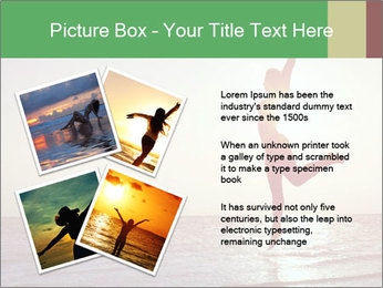 Happy Woman Jumping PowerPoint Template - Slide 23