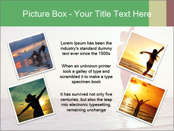 Happy Woman Jumping PowerPoint Template - Slide 24