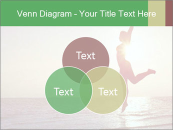 Happy Woman Jumping PowerPoint Template - Slide 33