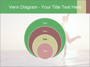 Happy Woman Jumping PowerPoint Template - Slide 34
