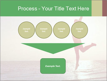 Happy Woman Jumping PowerPoint Template - Slide 93