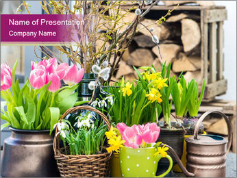 Easter decoration PowerPoint Template - Slide 1
