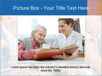 Senior couple playing Bingo PowerPoint Templates - Slide 16