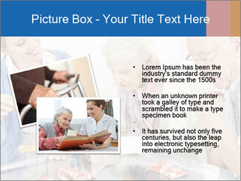 Senior couple playing Bingo PowerPoint Template - Slide 20