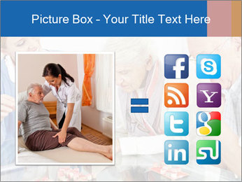 Senior couple playing Bingo PowerPoint Template - Slide 21