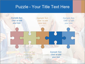 Senior couple playing Bingo PowerPoint Templates - Slide 41