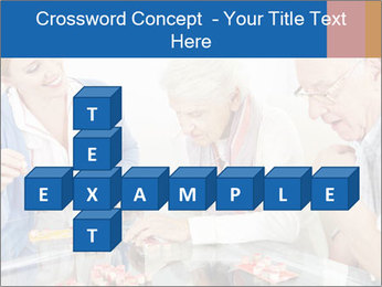 Senior couple playing Bingo PowerPoint Templates - Slide 82