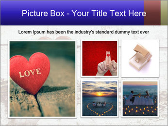 Rustic wooden red heart PowerPoint Template - Slide 19