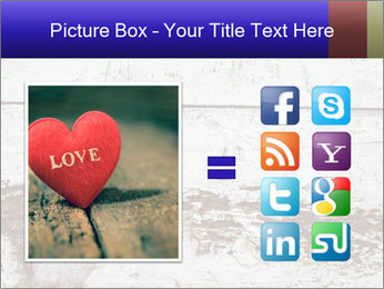 Rustic wooden red heart PowerPoint Template - Slide 21