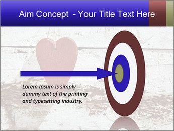 Rustic wooden red heart PowerPoint Template - Slide 83
