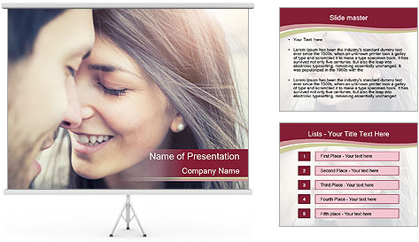 Affectionate young couple PowerPoint Template