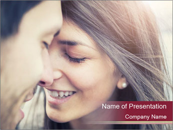 Affectionate young couple PowerPoint Template - Slide 1