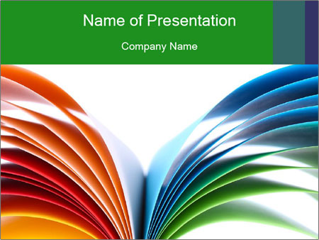 Colorful art paper PowerPoint Template
