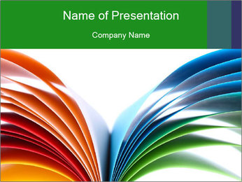 Colorful art paper PowerPoint Template - Slide 1