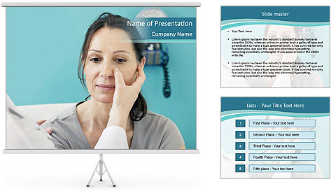 The woman PowerPoint Template