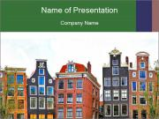 Amsterdam . traditional houses border PowerPoint Templates