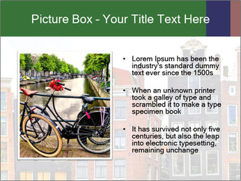 Amsterdam . traditional houses border PowerPoint Template - Slide 13