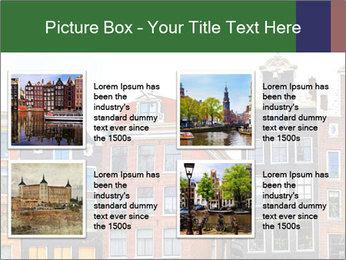 Amsterdam . traditional houses border PowerPoint Template - Slide 14