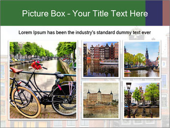 Amsterdam . traditional houses border PowerPoint Template - Slide 19