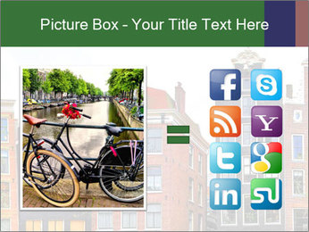 Amsterdam . traditional houses border PowerPoint Template - Slide 21